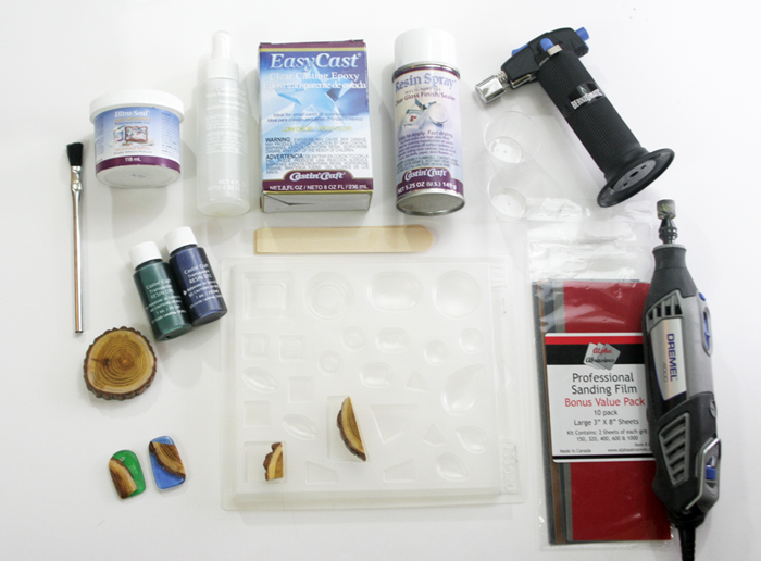 wood resin pendant - supplies needed photo