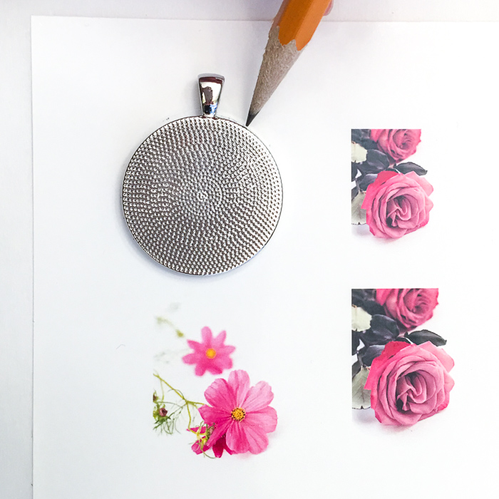 DIY resin jewelry. Tutorial to make your own flower of the month pendant.