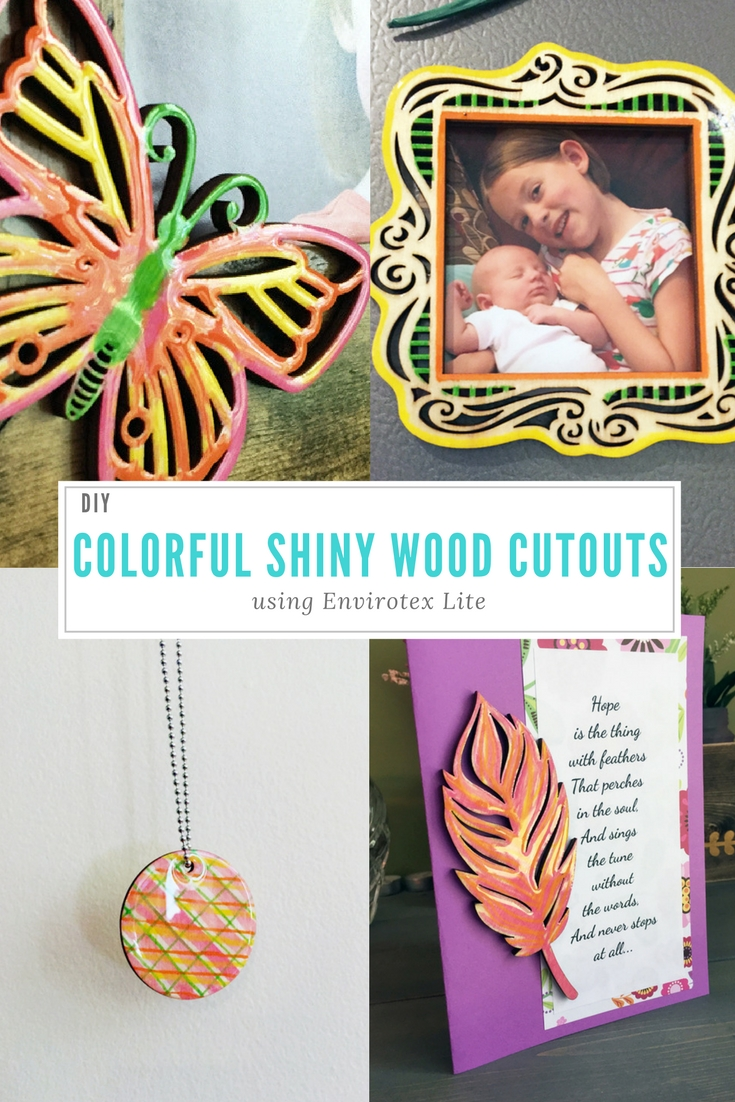 DIY Shiny Wood Cutouts collage