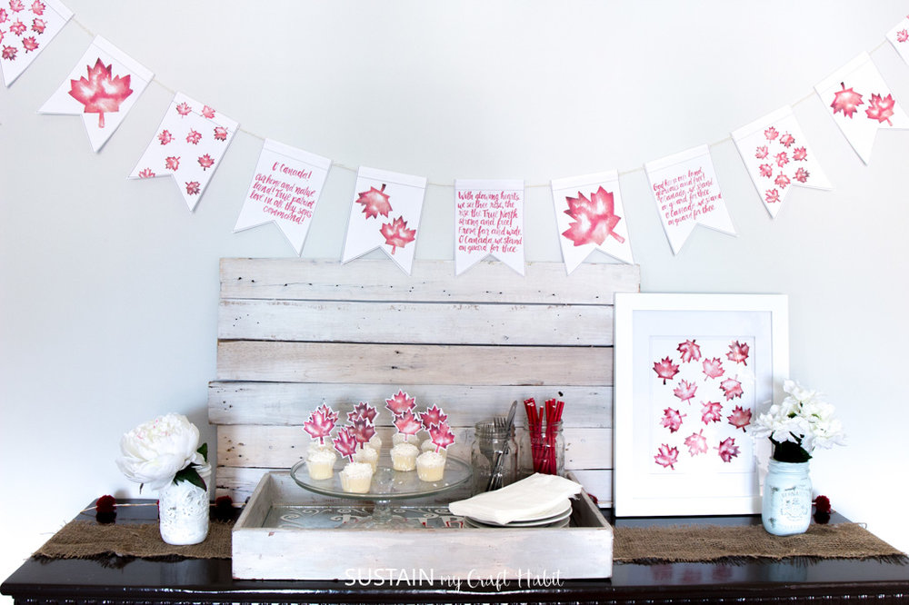 DIY crafts for canada day | Maple Leaf Art | Free Printable Banner | Resin Crafts | Canada Day projects | Resin DIY | Resin Decor | Canada Day project | Canada Day celebration | Party ideas for Canada Day | Canada Day Decor