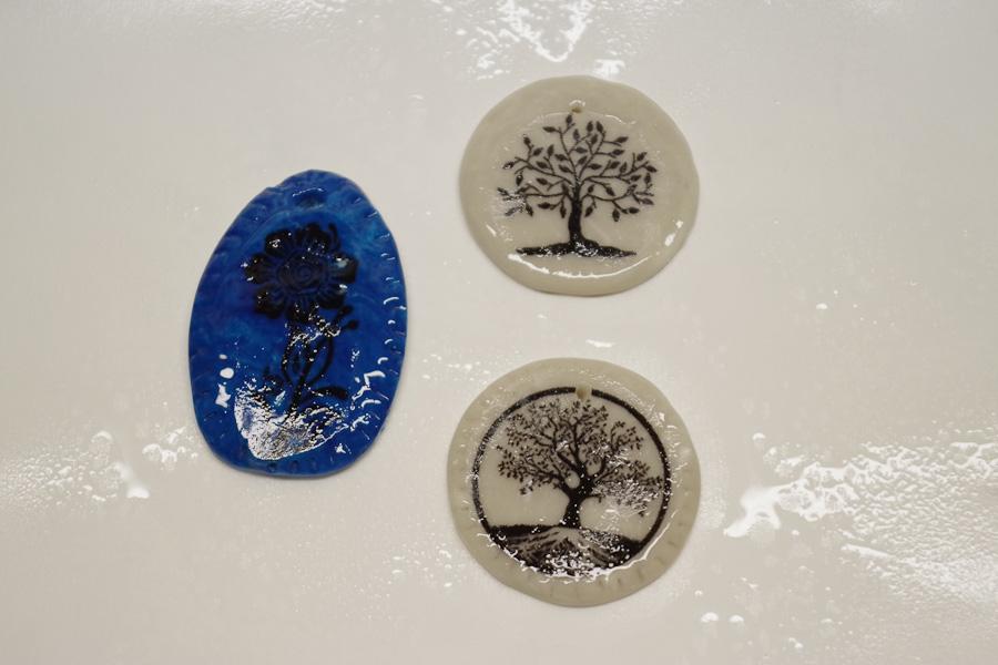 Clay Pendant Ink Transfer Resin Spray