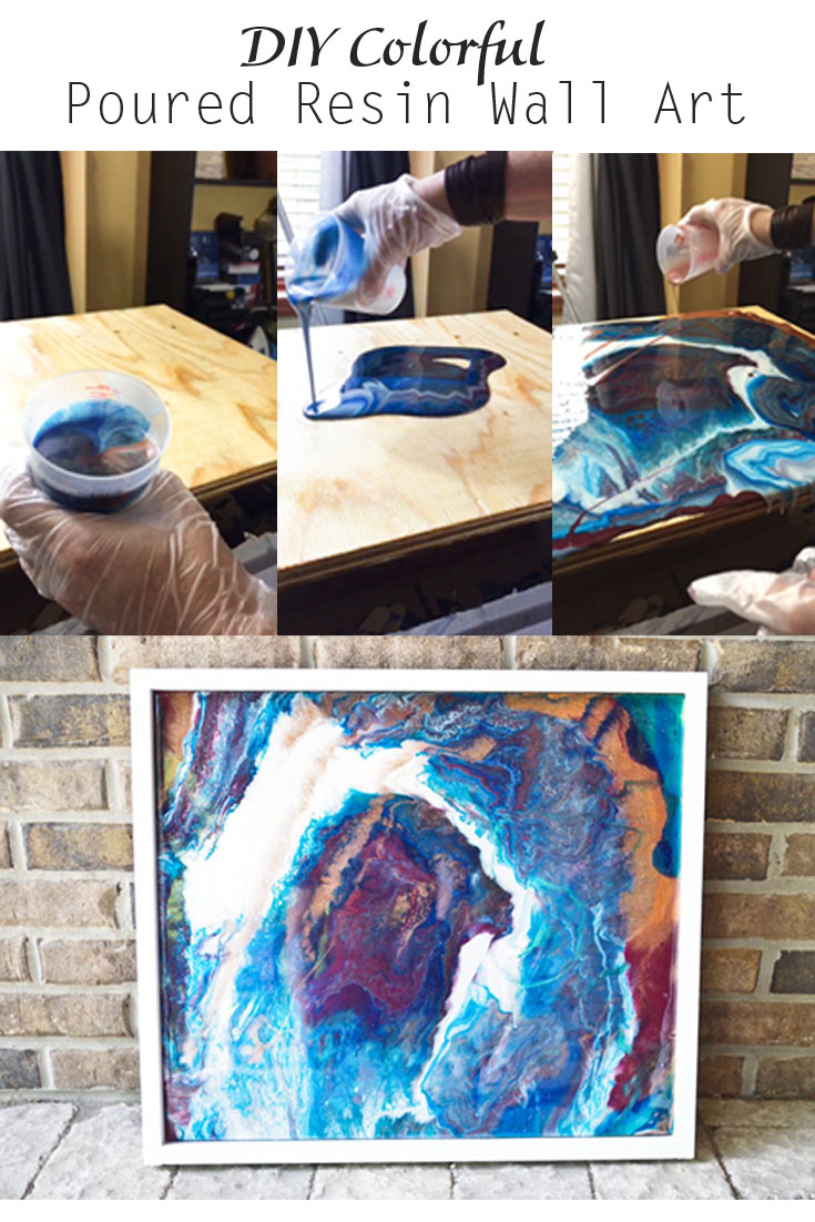 Poured Resin Wall Art Pinterest image