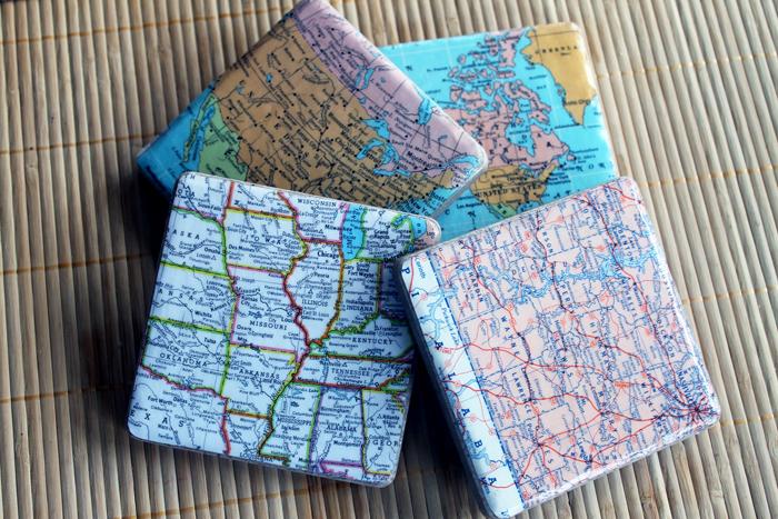 DIY Crafts | DIY Decor | Resin Crafts | DIY Home Decor | Wood Coasters | DIY Coasters | Quick DIY Projects | Ceramic Coasters | Map Coasters |
