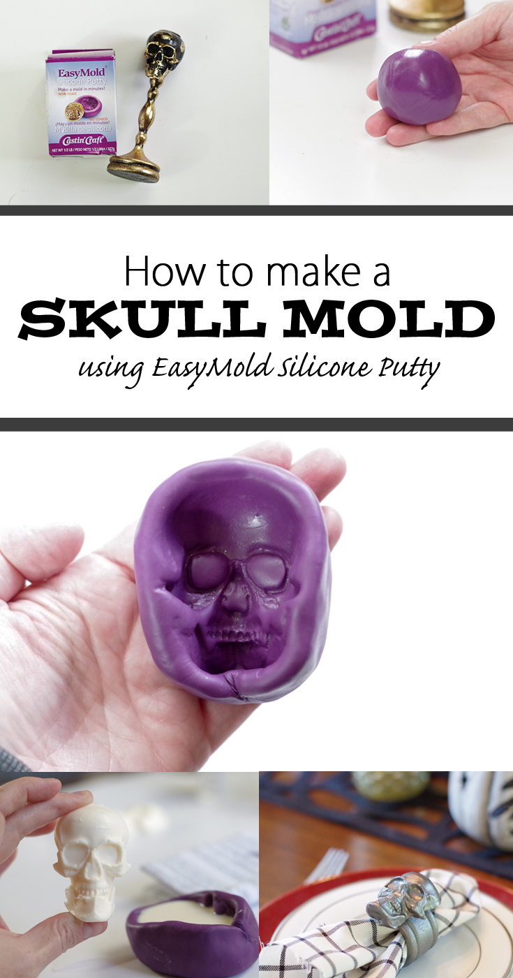 Skull Mold from Putty - Pinterest image