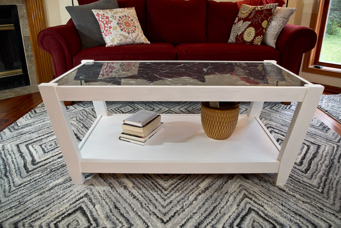 Resin Table Fab Furniture Flippin Contest - finished photo sideview