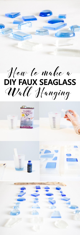 diy faux seaglass
