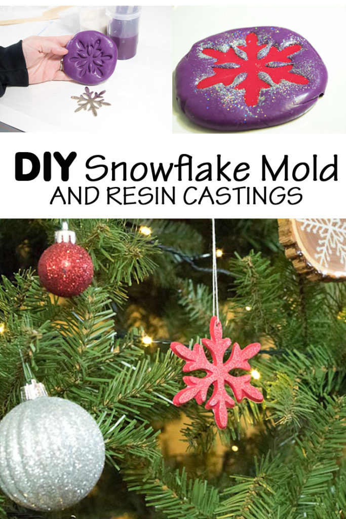 snowflake mold and castings pinterest image