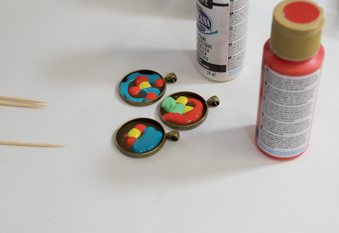 Paint and Resin Necklaces - cover bottom of bezel completely