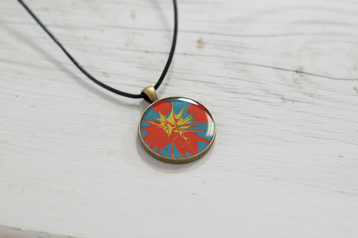 Paint and Resin Necklaces - finished necklaces