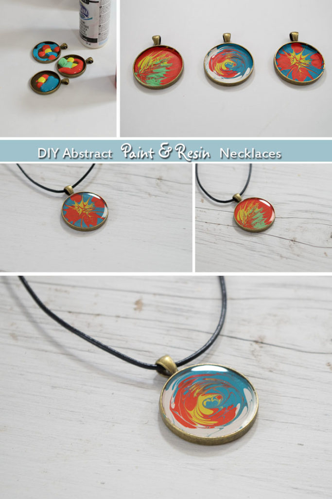 Paint and Resin Necklaces- pinterest image