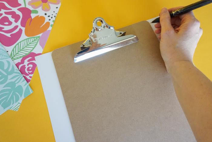 DIY Resin Clipboard