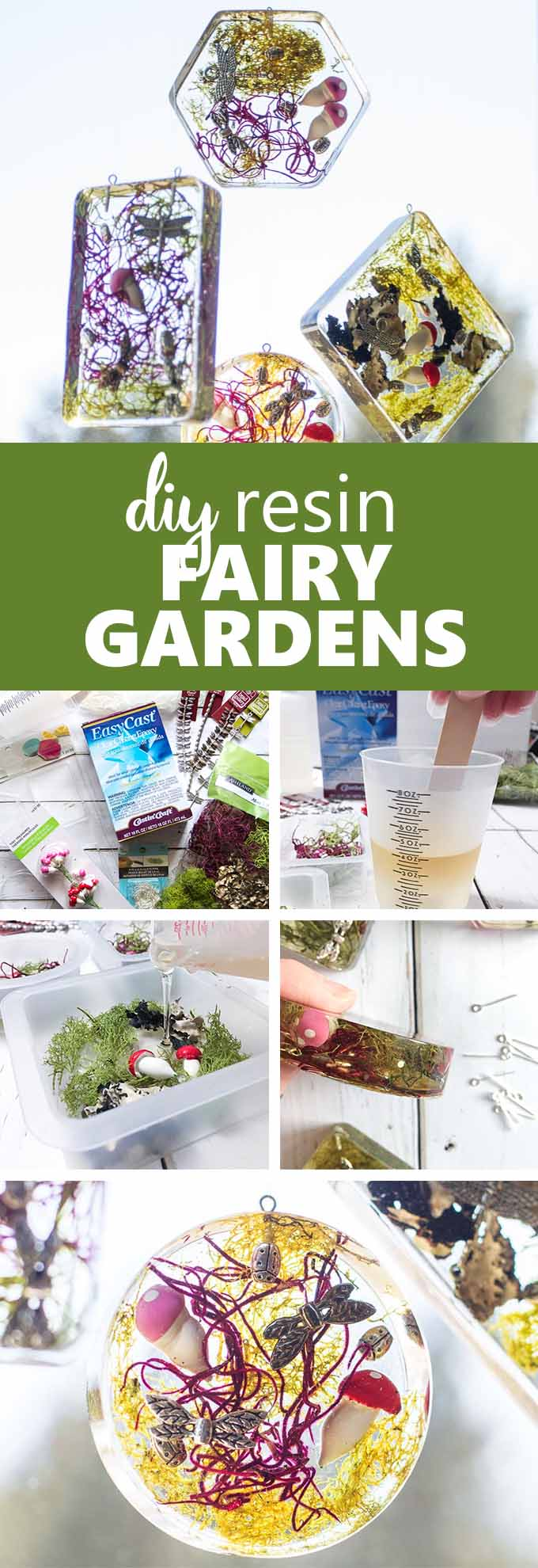 DIY resin fairy garden light catchers