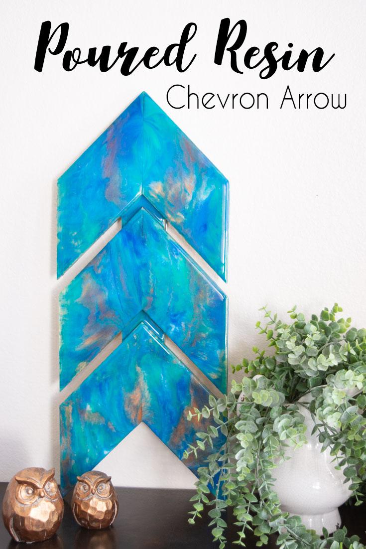 Poured Resin Chevron Wood Arrows