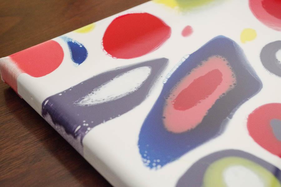 16.1 Colorful Dripped Resin Artwork - Closeup