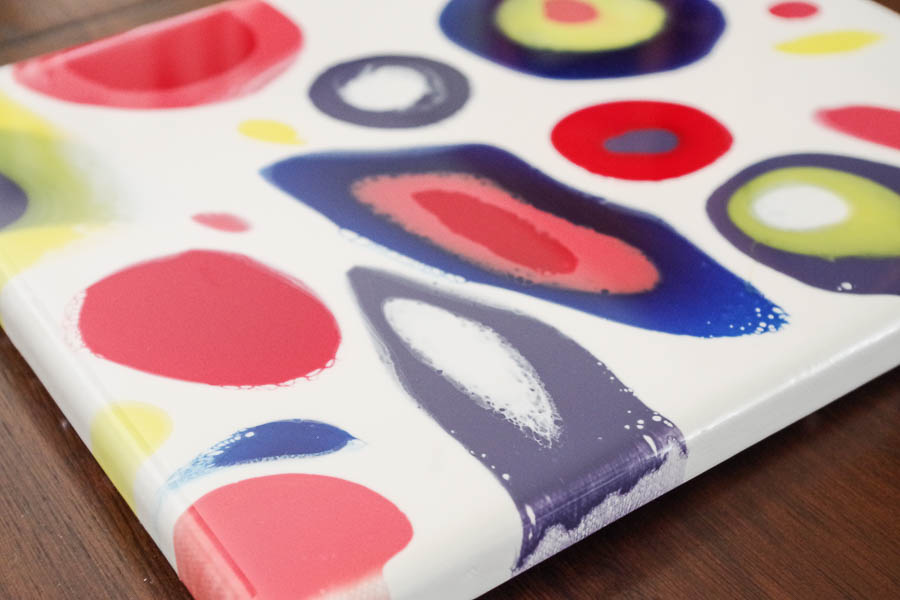 16.2 Colorful Dripped Resin Artwork - Closeup