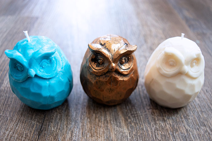 Cute DIY Candles with Custom Silicone Rubber Mold
