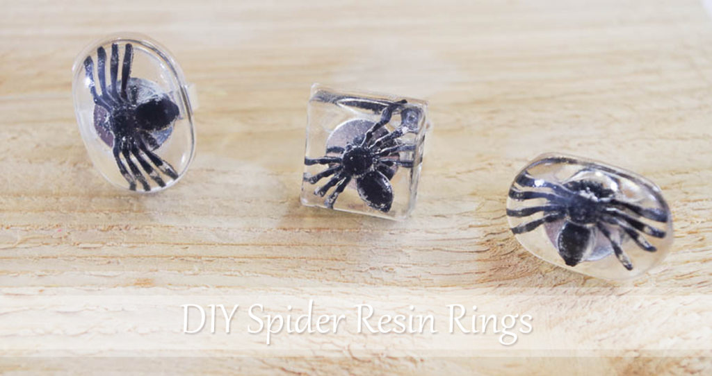 DIY Spider Resin Rings pinterest image