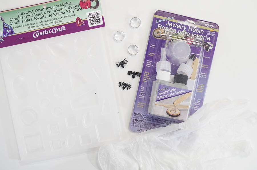 DIY Spider Resin Rings - supplies