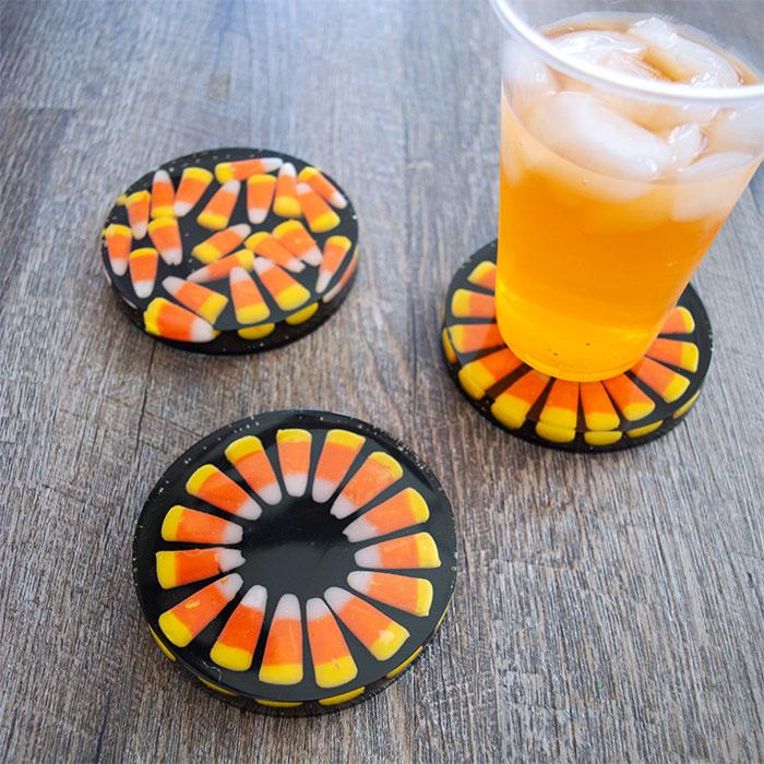 Candy Corn Coasters