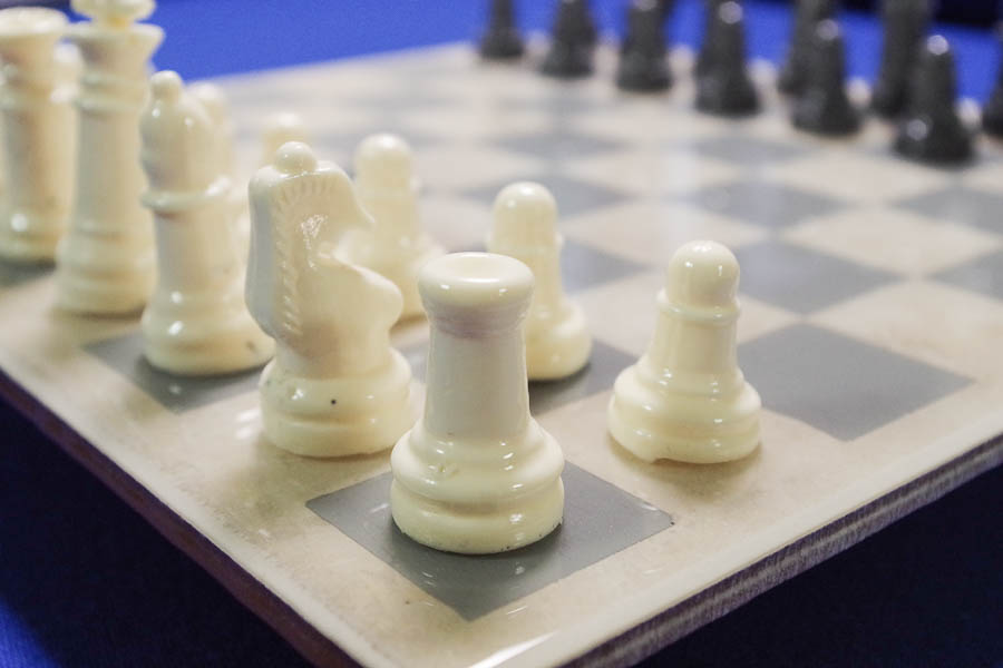 DIY Resin Chess Pieces- up close of white pieces