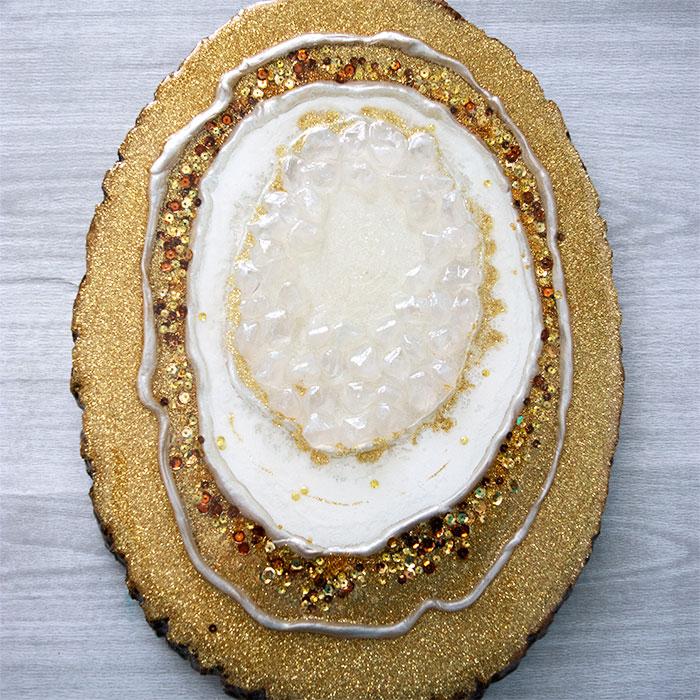 Resin Wood Slice Geode