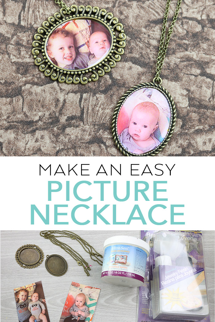 Make picture necklaces for mom this Mother's Day with a few supplies! #mothersday #mom #picture #jewelry