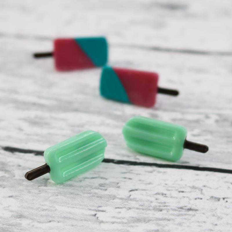 diy popsicle earrings