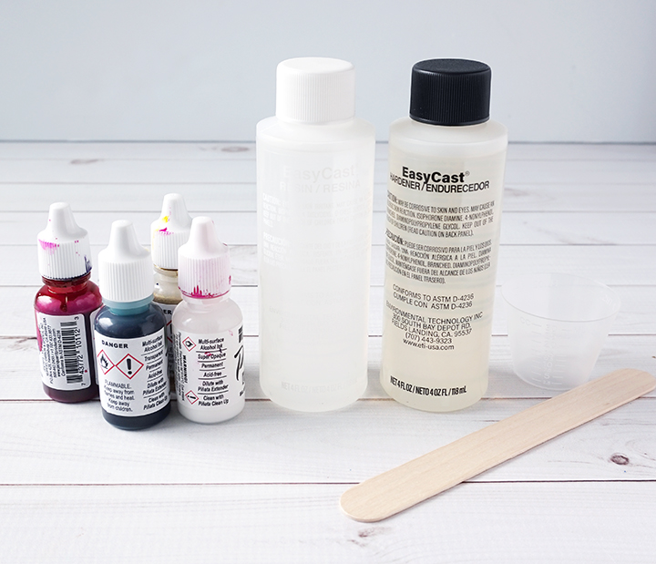 DIY Alcohol Ink Resin Keychain Supplies