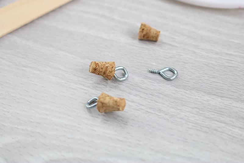 adding an eye hook to a cork