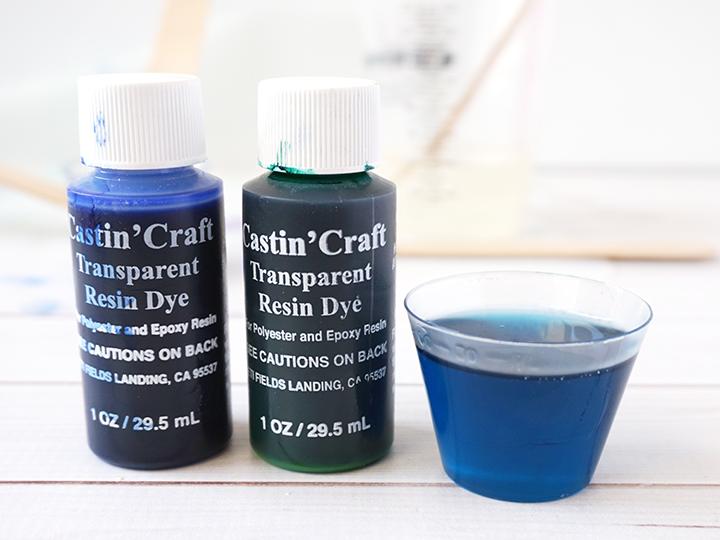 Beach Coaster Green and Blue Resin Dye