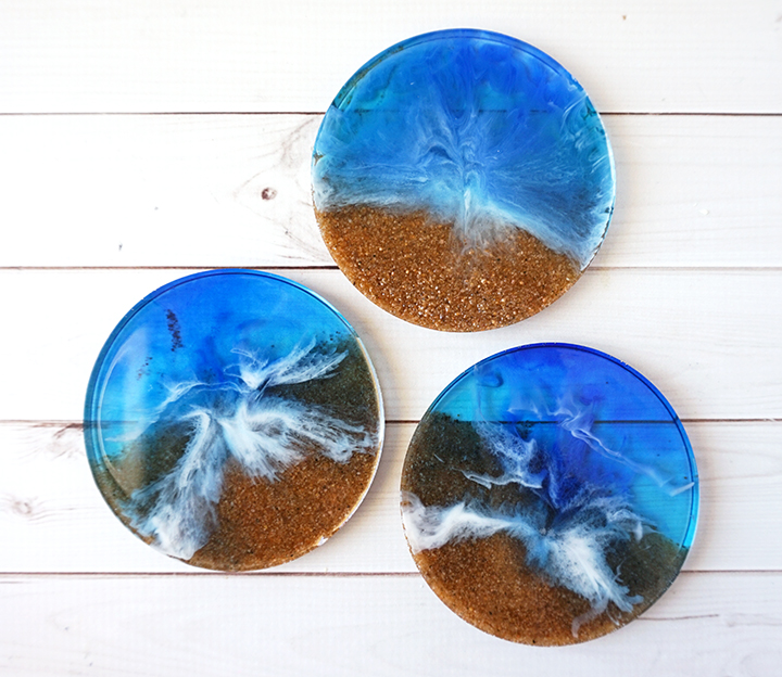 DIY Resin Beach Coasters