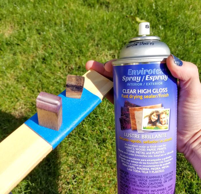 High gloss resin spray