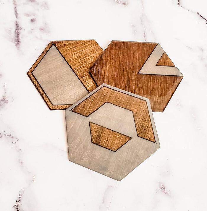 Cricut wood coasters