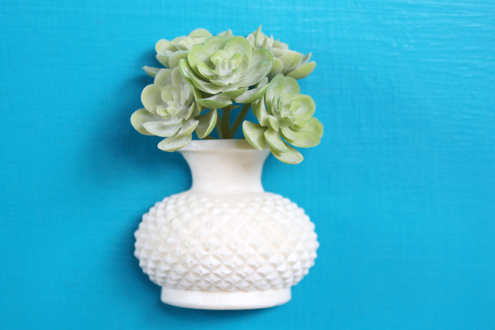 Make a cute succulent vase magnet with FastCast resin, a little faux succulent and a disc magnet, perfect for a fridge or locker ornament.