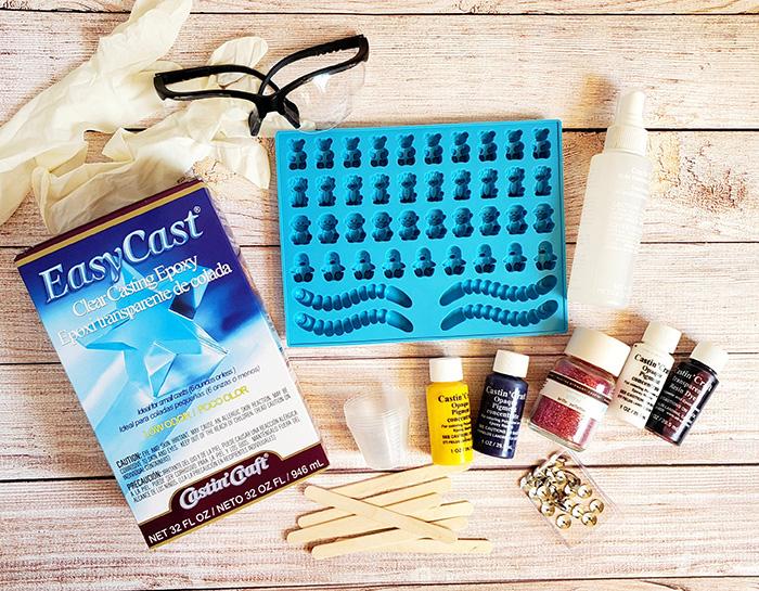 Supplies for resin thumbtacks