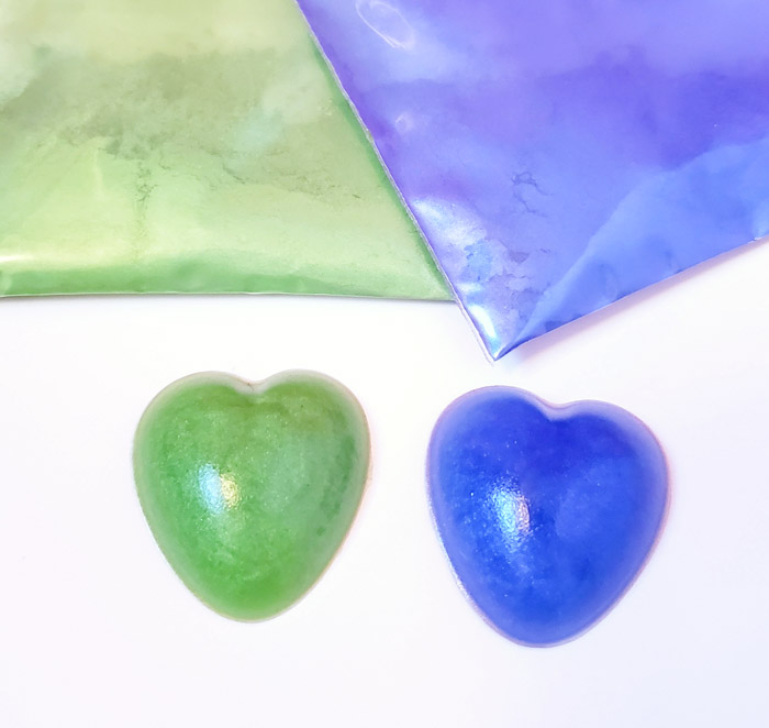 Mica powder to color resin