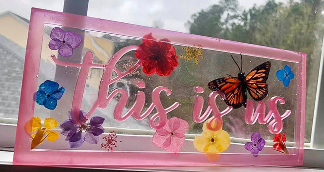 This is us resin sign