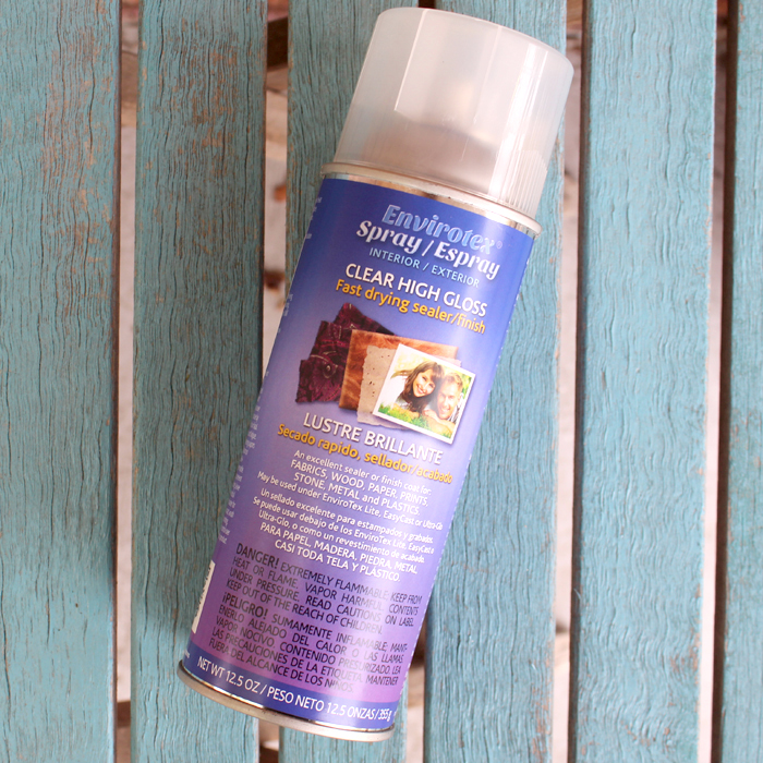 Envirotex Spray clear high gloss fast drying sealer and finish