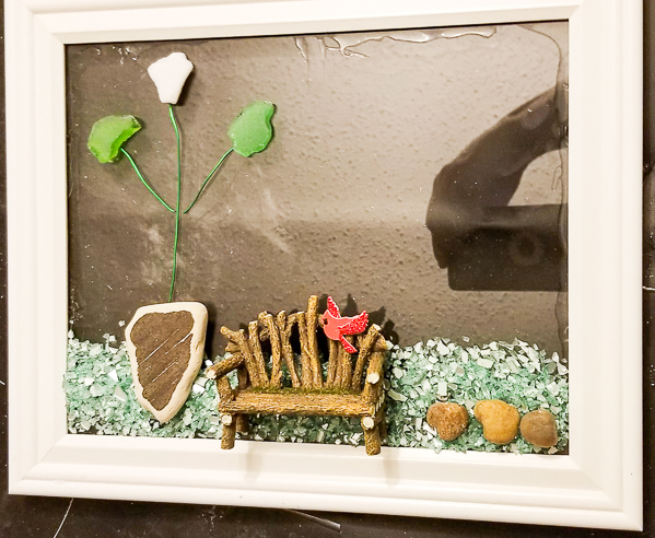 Sea Glass in Resin Sign