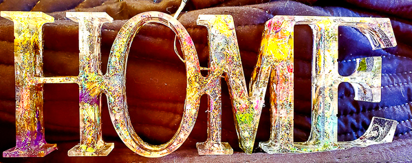 Resin Home Sign