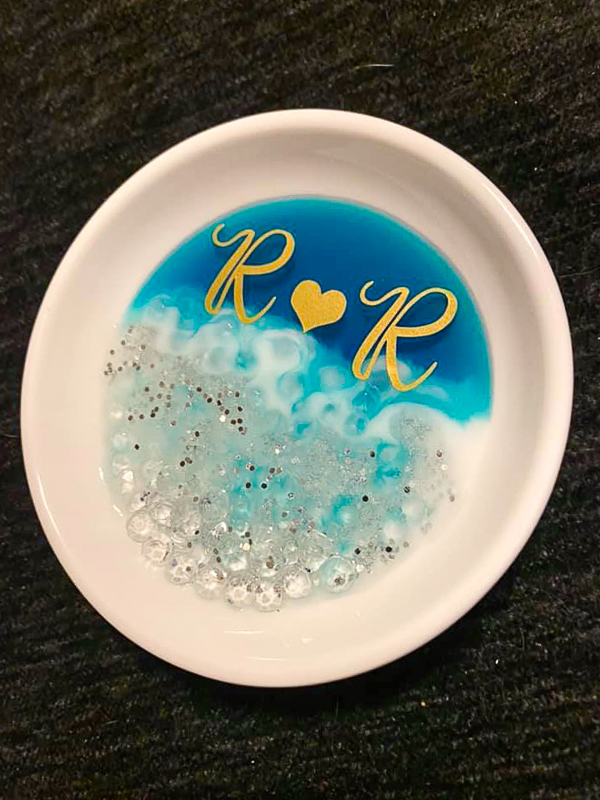 Personalized Resin Ring Dish