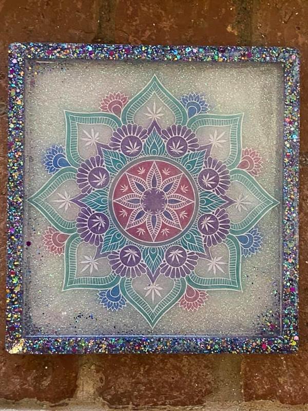 Leaf Mandala Tray