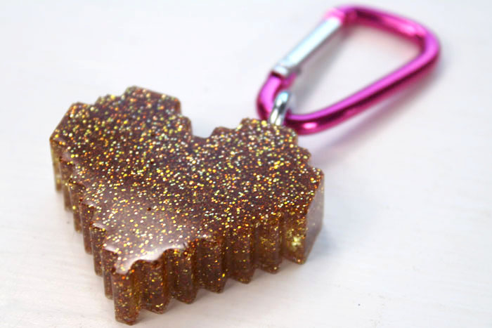 Repeat the same process for all the little heart keychains. Now they are ready to attach to a Valentine and pass out to friends, family and teachers.