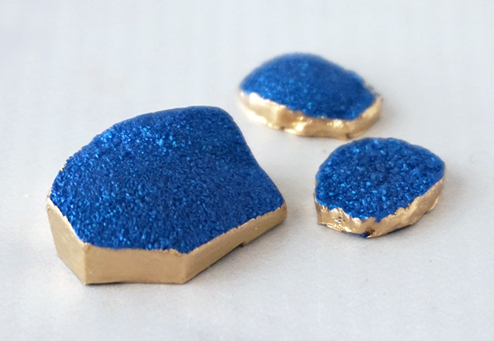 Faux Druzy Resin Pieces with Gold Sides