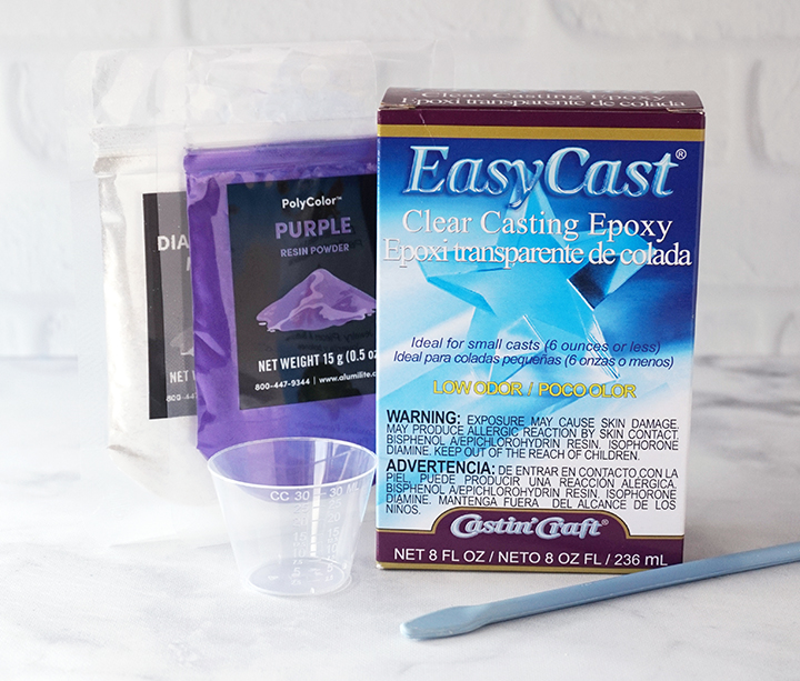 Marbled Tray Supplies with EasyCast Clear Casting Epoxy