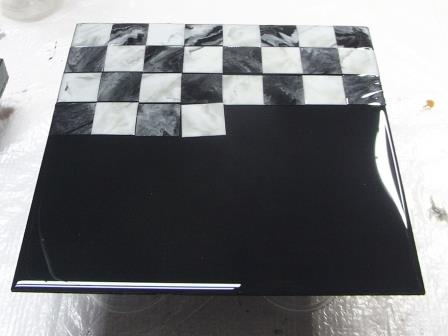 Faux Marble Chess Board Using Envirotex Lite 174 Resin Crafts