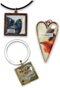 Birds Collage Pendant's with EasyCast®