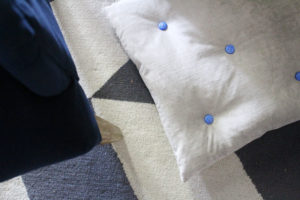 Tufted Floor Pillow With Buttons