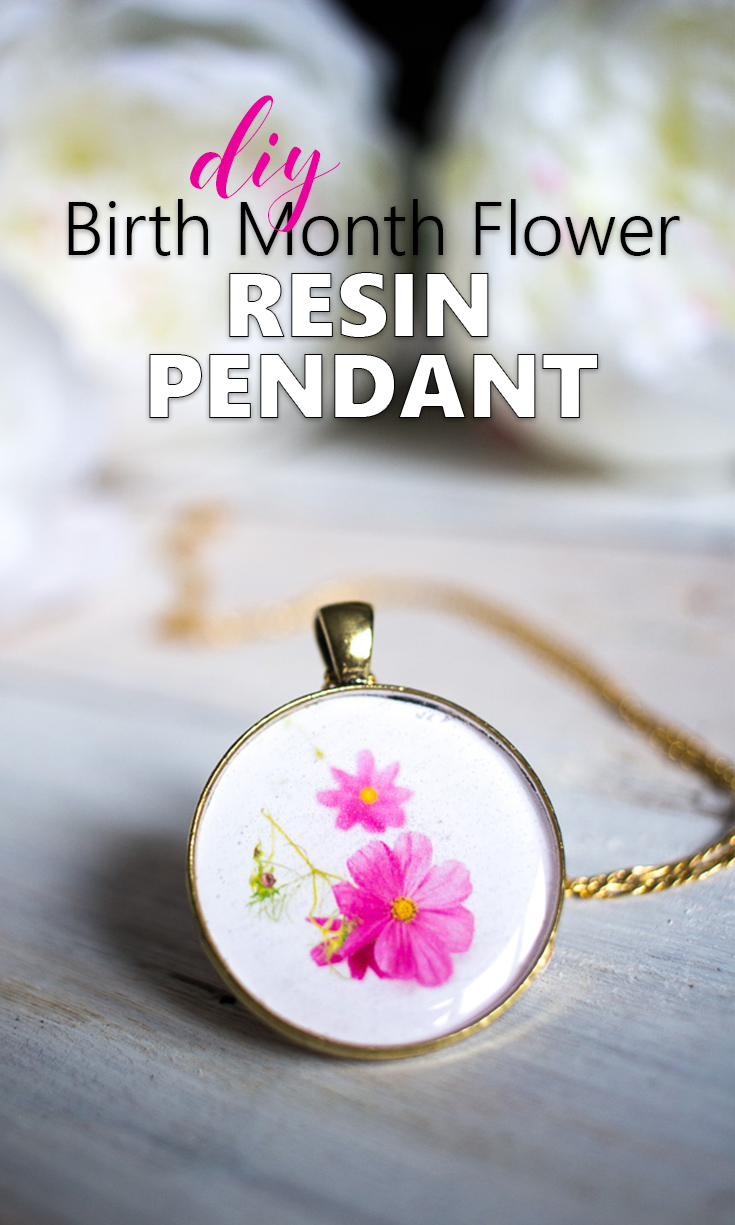 So thoughtful! Make mom a pendant with your birth month flower as a keepsake gift idea for Mother's day, birthday or Christmas.