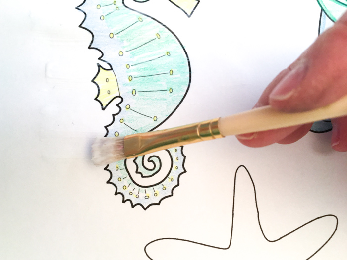 DIY paper embellishments with a coastal theme